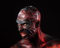 Homem na composição do monstro Foto de Stock Royalty Free