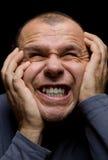 Homem na dor Imagens de Stock
