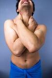 Homem na dor Fotos de Stock