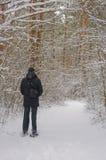 Homem na floresta Imagem de Stock