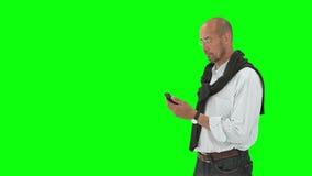 Homem na frente de New York video estoque