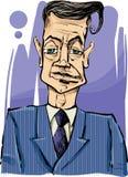 Homem na ilustração do desenho do terno Imagem de Stock