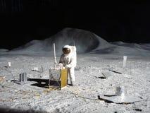 Homem na lua foto de stock royalty free