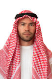 Homem na mantilha árabe. Fotos de Stock Royalty Free