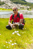 Homem na montanha Pirin Fotos de Stock Royalty Free