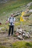 Homem na montanha Pirin Imagens de Stock Royalty Free