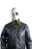 Homem na máscara de gás Fotos de Stock Royalty Free
