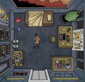Homem na nave espacial Imagem de Stock