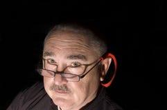 Homem na obscuridade Fotografia de Stock