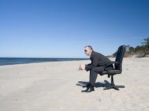 Homem na praia Foto de Stock Royalty Free