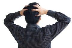 Homem na pressão Fotografia de Stock Royalty Free