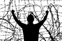 Homem na prisão Imagens de Stock