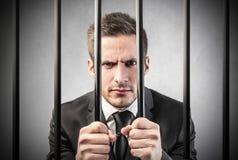 Homem na prisão Foto de Stock