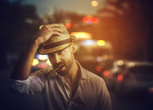 Homem na rua Fotografia de Stock Royalty Free