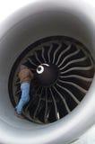 Homem na turbina Fotografia de Stock Royalty Free