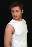 Homem na veste branca #1 Foto de Stock