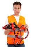 Homem na veste da segurança Fotos de Stock