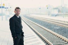 Homem na viagem de negócios Imagem de Stock
