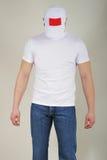 Homem nas calças de brim foto de stock royalty free