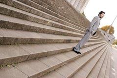 Homem nas escadas imagem de stock royalty free