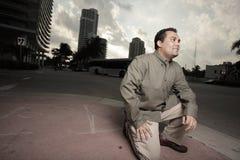 Homem nas ruas Imagem de Stock Royalty Free