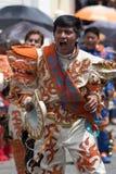 Homem nativo do kichwa no traje colorido em Equador Imagens de Stock Royalty Free
