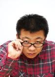 Homem Nearsighted fotografia de stock