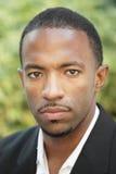 Homem negro com um bigode imagens de stock