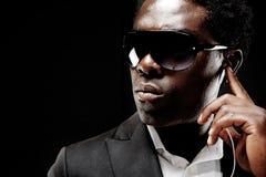 Homem negro da escolta Fotografia de Stock Royalty Free