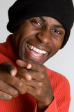 Homem negro de riso Fotografia de Stock Royalty Free