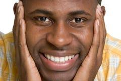 Homem negro de sorriso Imagem de Stock Royalty Free