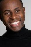 Homem negro de sorriso fotos de stock royalty free