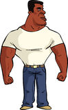 Homem negro muscular Fotos de Stock