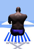 Homem negro na praia Imagem de Stock
