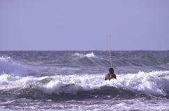Homem negro no mar Fotografia de Stock