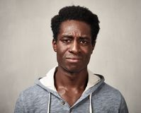 Homem negro triste fotos de stock royalty free