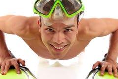 Homem nepalês atlético novo, push-up Foto de Stock Royalty Free