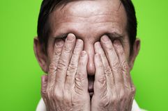 Homem nervoso Fotos de Stock