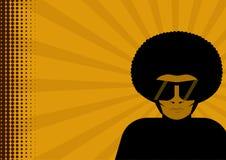 Homem no afro ilustração stock