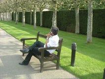 Homem no atendimento Fotos de Stock Royalty Free