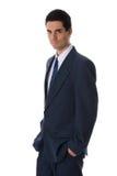 Homem no azul fotografia de stock royalty free