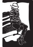 Homem no banco Ilustração do Vetor