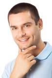Homem no branco fotografia de stock royalty free