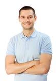 Homem no branco Imagens de Stock