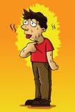 Homem no calor Fotografia de Stock Royalty Free