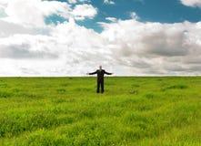 Homem no campo Imagem de Stock