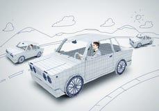 Homem no carro ilustração royalty free