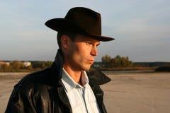 Homem no chapéu imagens de stock royalty free