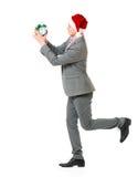 Homem no chapéu de Santa Fotos de Stock Royalty Free