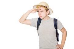 Homem no chapéu do safari Fotografia de Stock